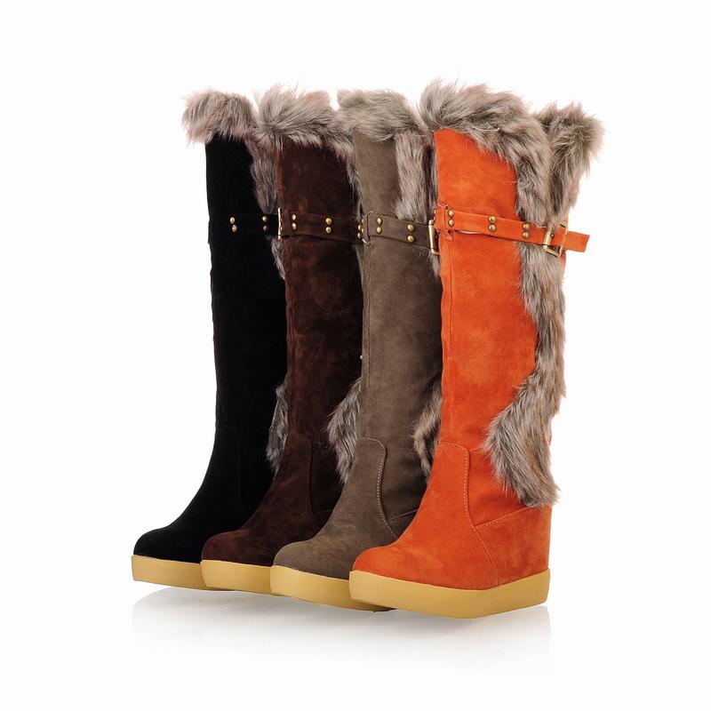 4213c17eec01 Get Quotations · 2014 winter knee-heigh botas women shoes autumn boots  winter boots women shoes black