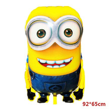 Cartoon character super gaint minion helium aluminium foil balloon