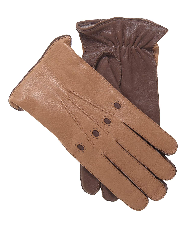 31586c292 Get Quotations · Fratelli Orsini Men's Italian Cashmere Lined Deerskin  Dress Driving Gloves