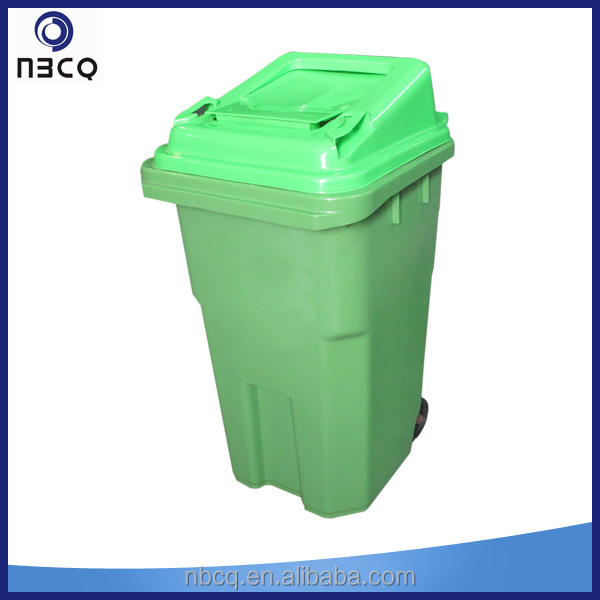 60 Liter outdoor plastic rubbish bin for home and garden