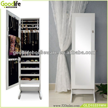 Goodlife Wooden Tall Corner Cabinets