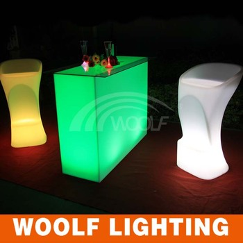 Ordinaire Light Up High Top Long Bar Table