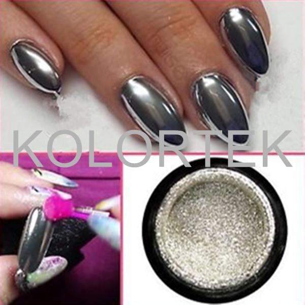 Glitter Pigment Chrome Nagel Spiegeleffekt Metallic Silber Pulver-Pigment-Produkt ID60501626692 ...