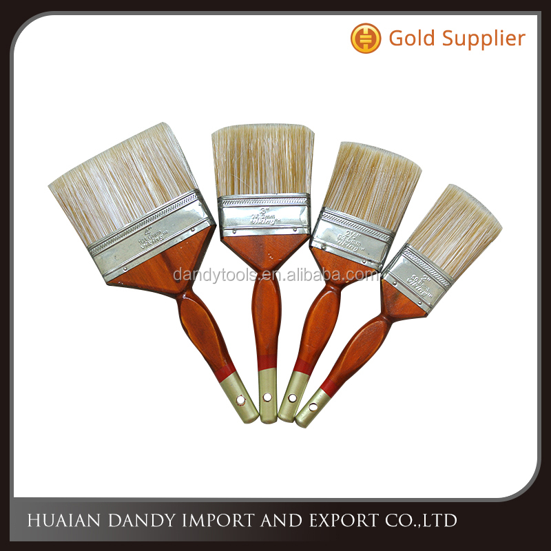 High quality wooden handle nylon bristle filament synthetic fiber paint brush