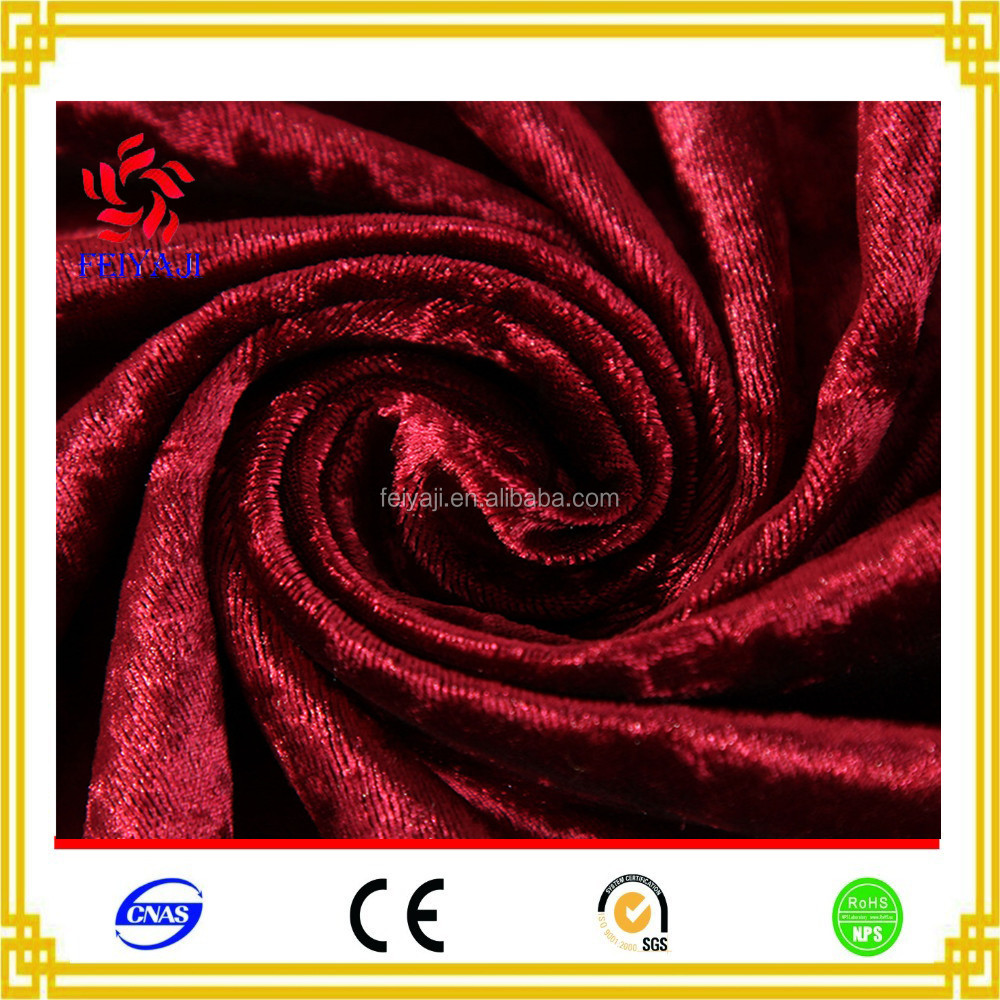 Online Shop Ice Crystal Korea Design Crushed Velvet Fabric From China Suppliers