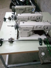 Fully automatic brother three head hair weaving sewing machine used in garments factory
