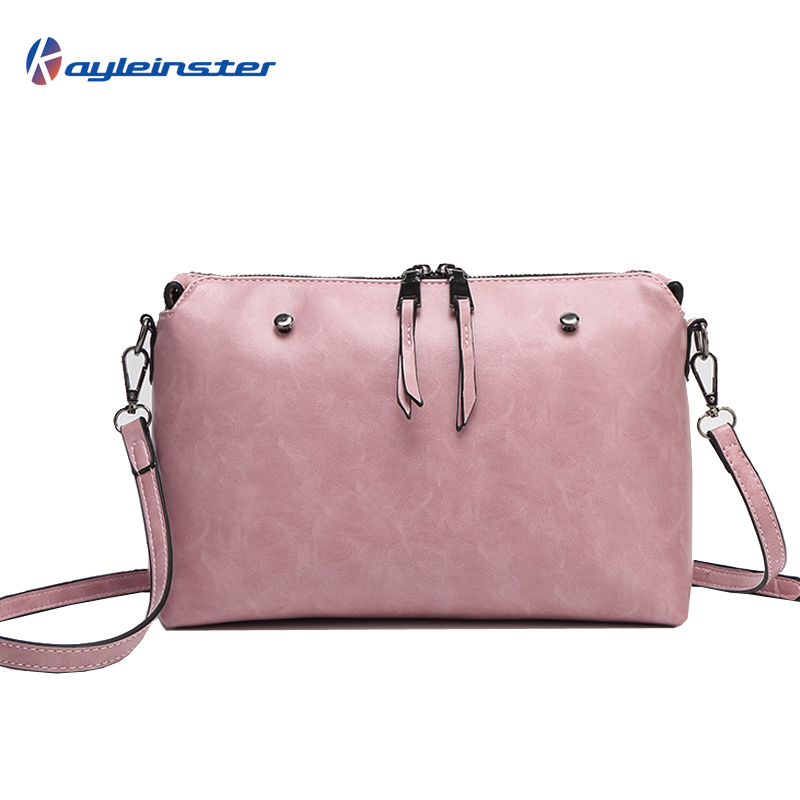 2015 Fashion Brand Designer Oil Wax Leather Women Messenger Bag Single Shoulder Bag Casual Bolsas Cross-body Bag Free Shipping