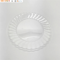 "Elegant Design Disposable Plastic Clear Plates for Weddings 6"" 7"" 9"" 10"""
