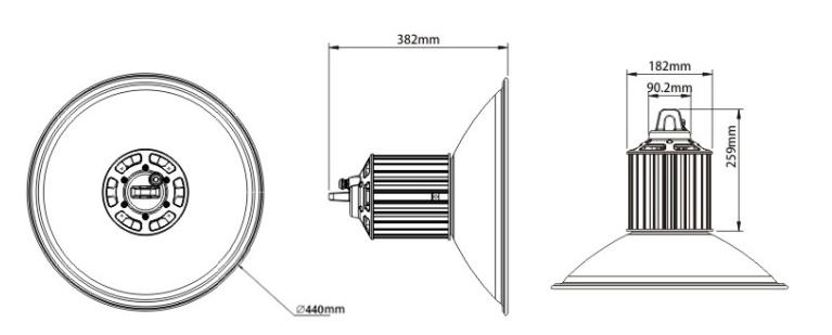Smd 200w Led High Bay Light Bulb Ip65