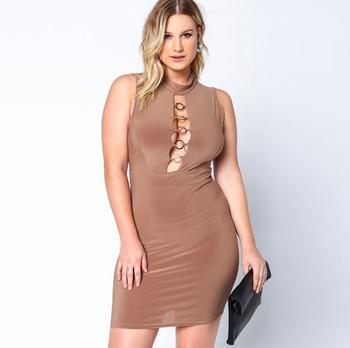 Mujeres gordas con vestidos