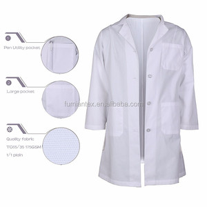 Brushed Widely Used Durable Cheap Plastic Lab Coat