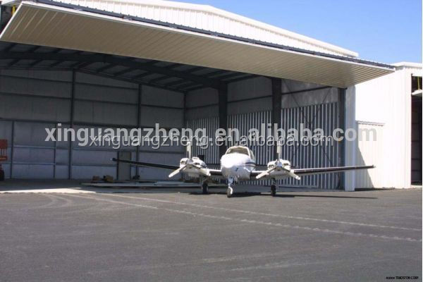 Corrugated steel customized military hangar