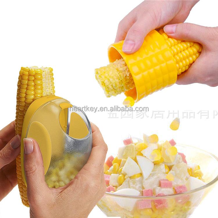 Stainless Steel Corn Stripper Thresher Cutter Remover Kernels Kitchen Tool HS