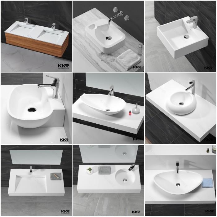 Kkr bath basin 100 acrylic bathroom vanity wash basin for Wash basin mirror price