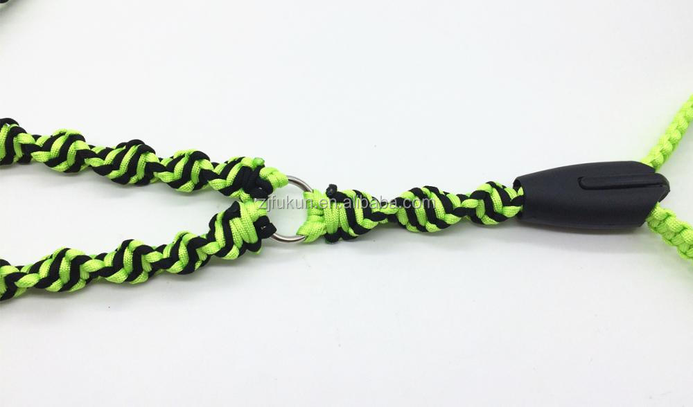 new style 550 paracord led dual dog leash handmade survival paracord dual pet leash