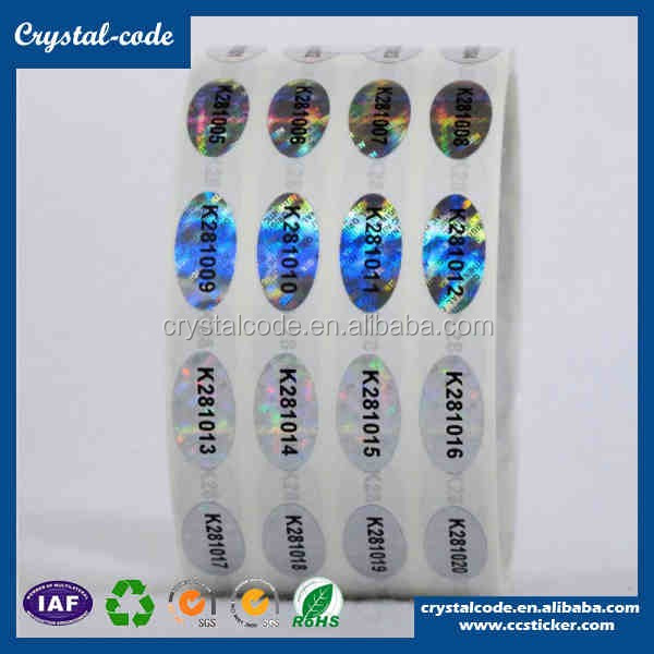 Eco-friendly Anti-ultraviolet 3d Glossy Hologram Sticker