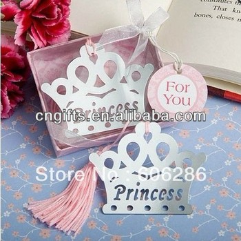 Princess Crown Bookmark Baby Shower Party Return Small Gifts For