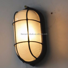 60W IP54 Aluminium Ceiling outdoor Bulkhead Light wall light Round Black Color Humidity Proof Light