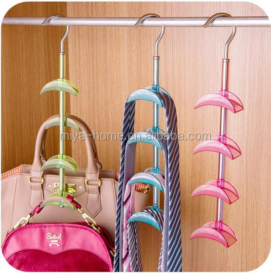 New design rotatable 4-layer brackets pallets hooks / creative multifunctional pockets hangers
