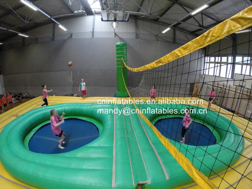 High Quality Cheap Beach Inflatable Volleyball Court with Trampoline