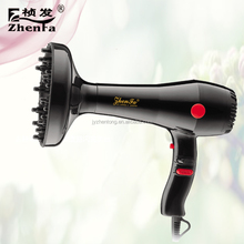 Professional hair dryer with comb nozzle made in China ZF-1800E-1