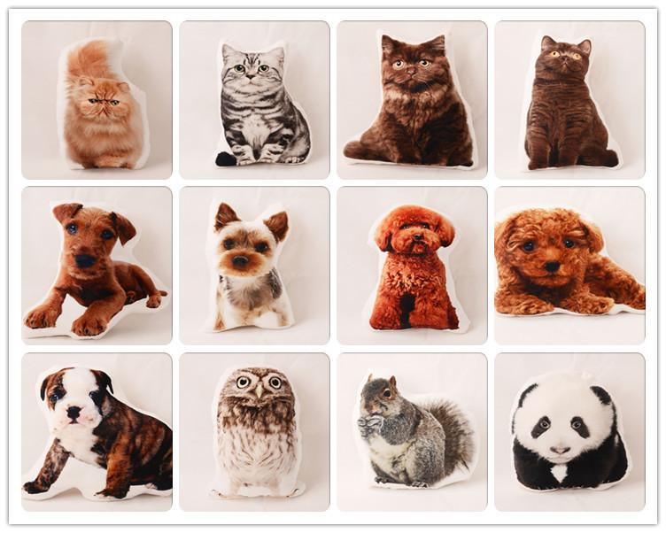 3d Digital Printed Custom Design Short Plush Dog Cat Irregular Animal Shaped Body Pillow - Buy ...