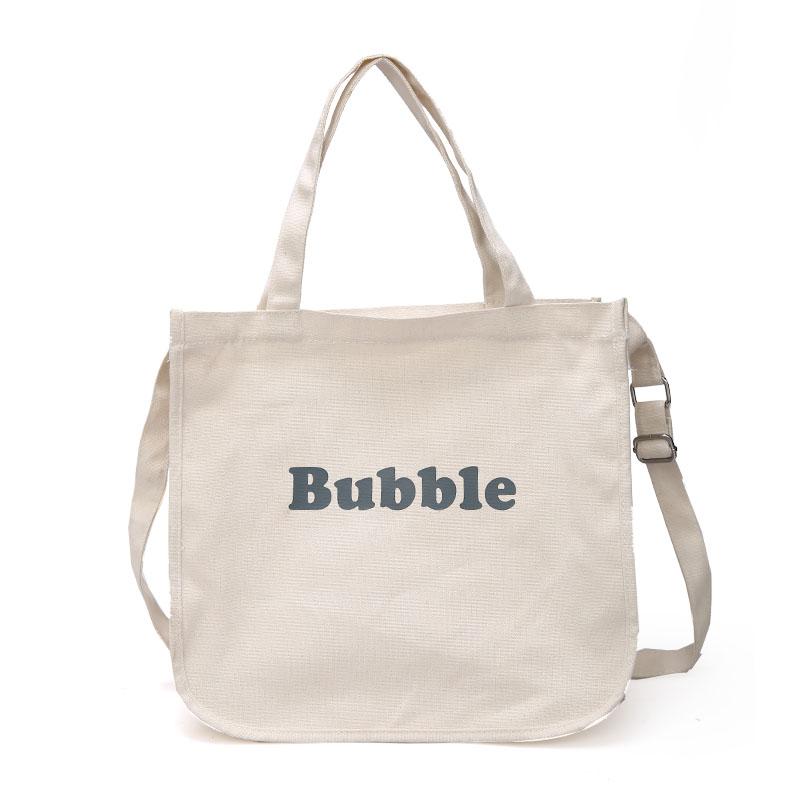 ファッション女の子バッグキャンバスバッグメーカーメッシュ綿バッグトート