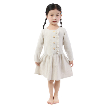 Ruffle winter kids clothing girls party dress baby clothes boutique baby dresses