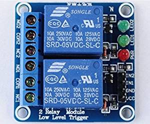 5V 2-Channel Relay Module Low Level Triger Relay shield for Arduino Raspberry pi