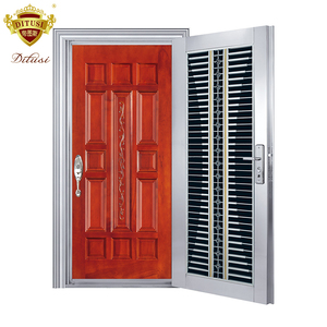 Factory direct finished used metal security doors JH327