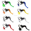 "CNC Universal Motorcycle 7/8"" Brake Clutch Pump Master Cylinder Reservoir Levers"