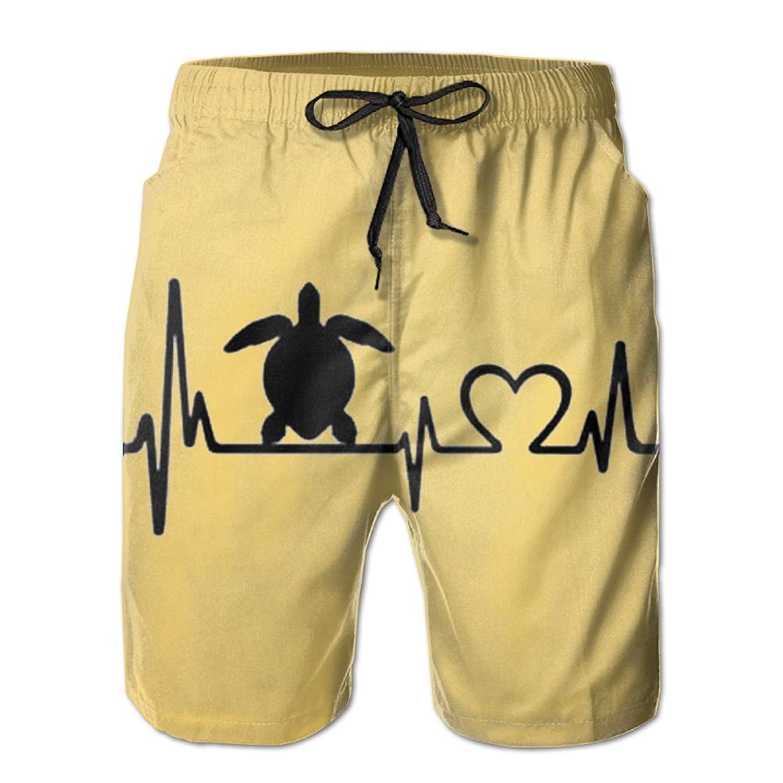 SARA NELL Mens Shorts Flamingo Couple Quick Dry Swim Trunks Beach Board Shorts White