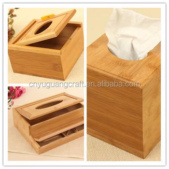 2016 New Design Creative Wooden Tissue Boxes Custom Wood Table Napkin Box
