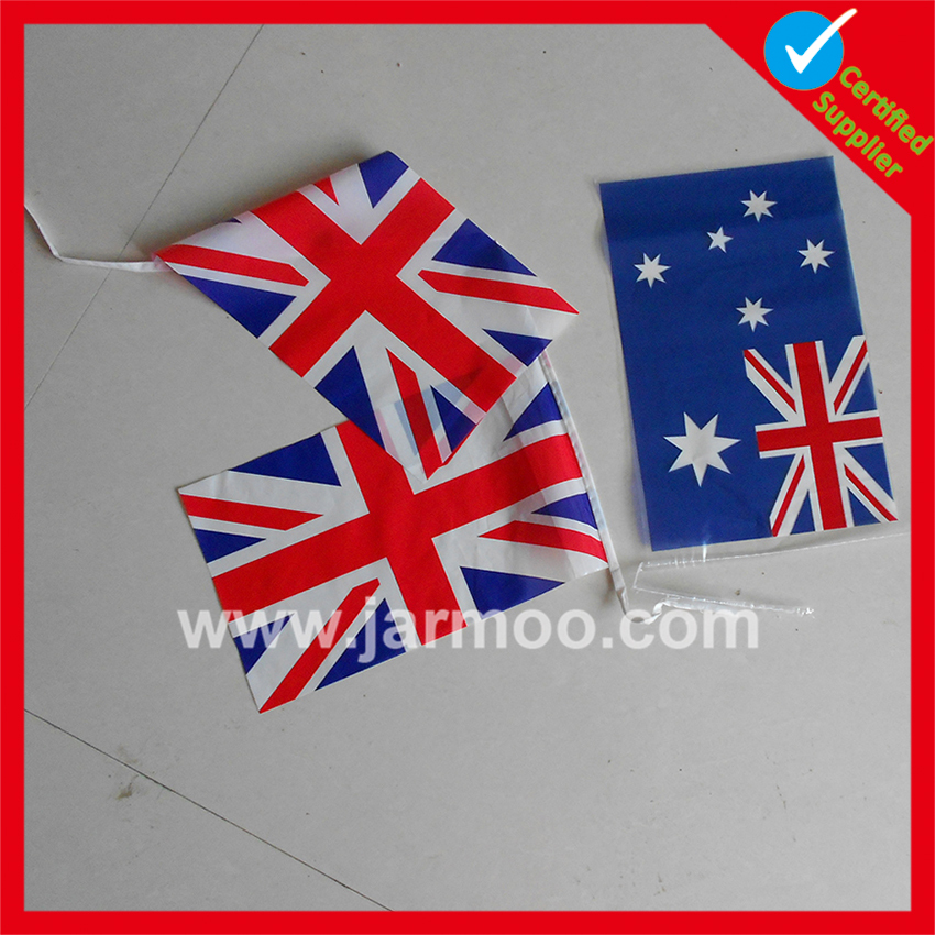 Polyester flag decorative Cheap wood bunting stand