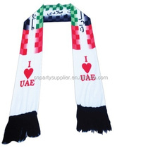 I Love UAE National Flag Knitted Scarf