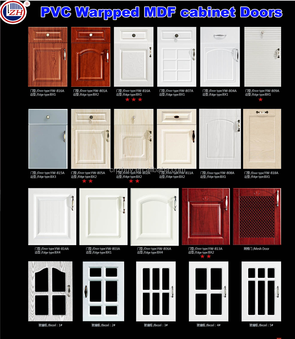 Kitchen Cabinet Skins: Design Pvc Skin Membrane Door For Kitchen Cabinet