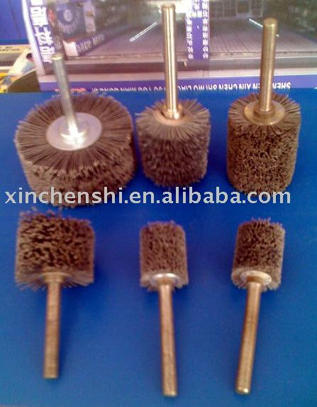 Abrasive wheel with shaft