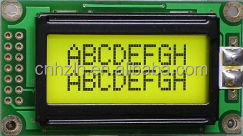 LH0802A STN yellow backlight 3.3/5V character lcd 8x2