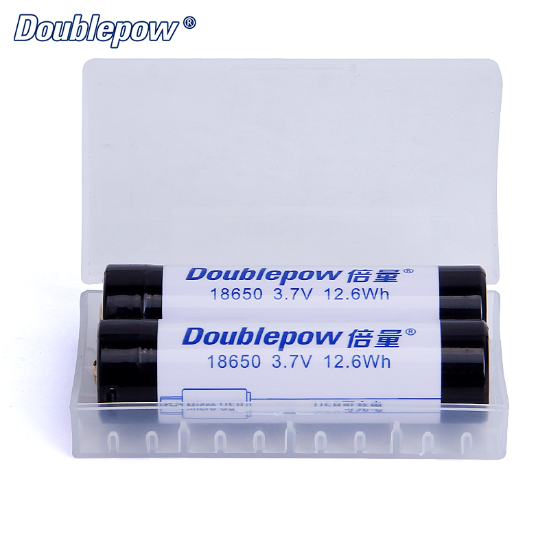 18650 Lithium Battery Storage Case Box to Hold 2pcs Batteries