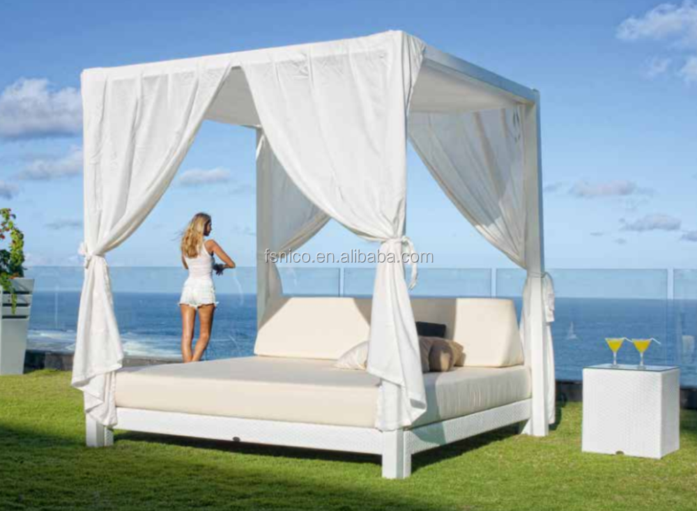 Wicker Furniture Moon Daybed Outdoor Canopy Lounge Buy