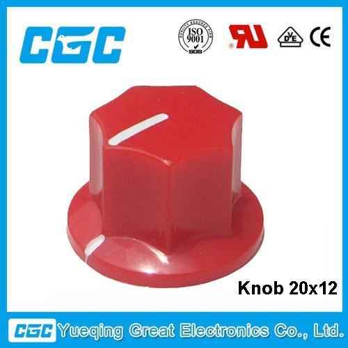 Kna- 20x12 plastica/gomma manopola del potenziometro serie: radio manopola di controllo del volume Produzione produttori, fornitori, esportatori, grossisti