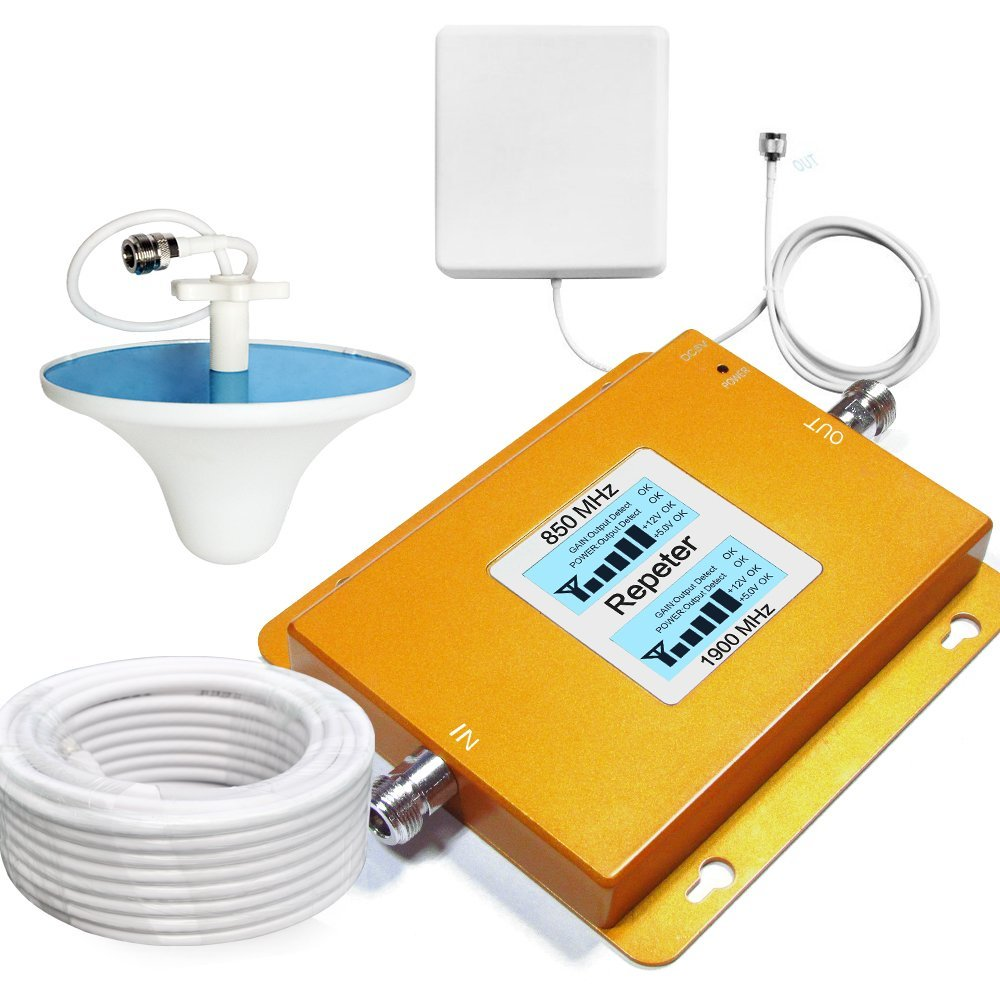 0410b5d326b717 Get Quotations · Sanqino Cell Phone Signal Booster For Home 850MHz/1900MHz  Band 2 Band 5 Mobile Amplifier