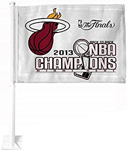 Miami Heat 2013 NBA Champions Car Flag Double sided