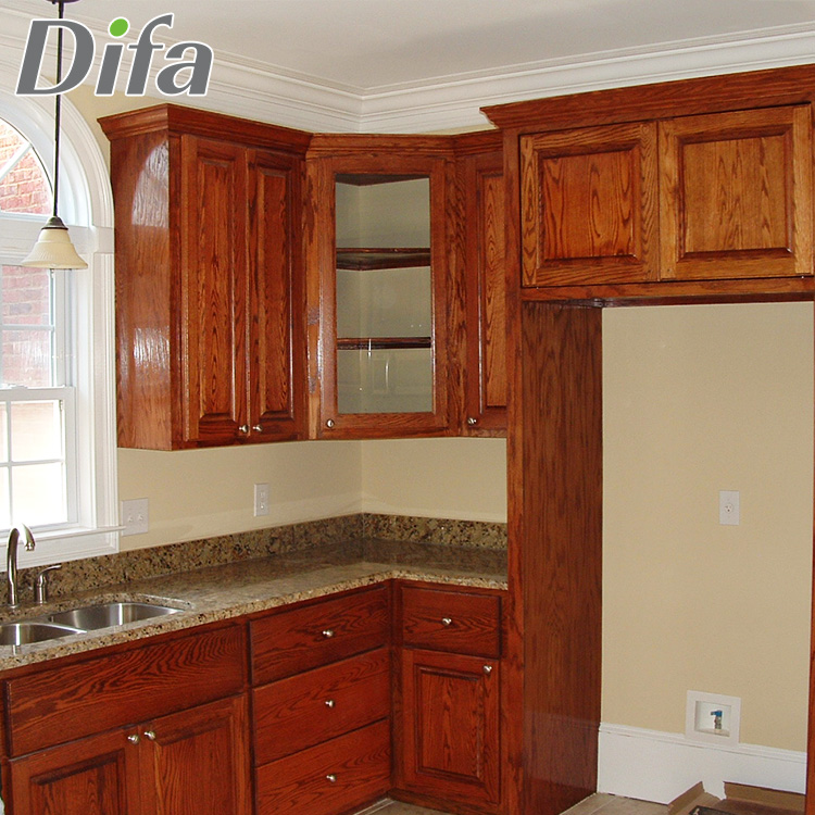 Custom Rubber Wood Kitchen Cabinets Rustic