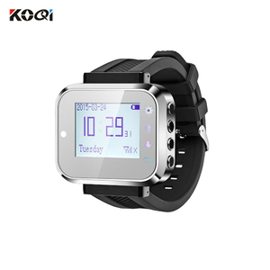 433.92Mhz High Efficiency Service Wireless Restaurant Waiter Call System Wrist Watch Pager