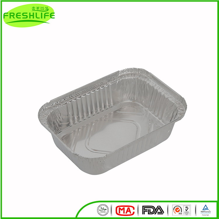 Cheap price custom aluminum foil container aluminum foiled food paper tray