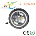 2015 new design 7 inch 45W led headlight with DRL halo ring water-flowing function for jeep wrangler