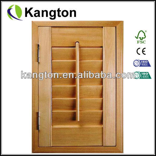 Louver door wooden shutter door movable door shutter