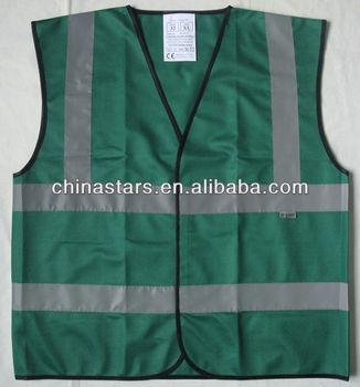 Dark Green Safety Vest