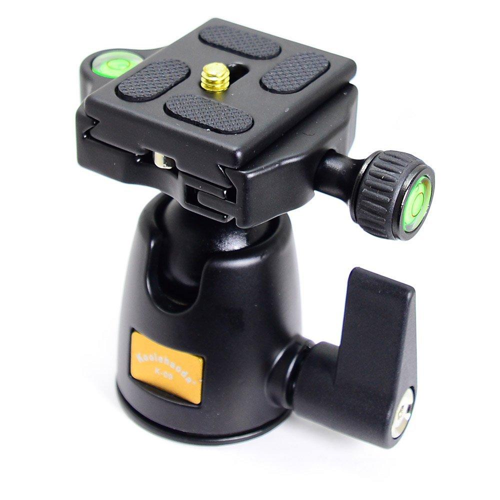koolehaoda KQ-09 Aluminum Camera Tripod Head Ballhead With Quick Release Plate For DSLR Cameras